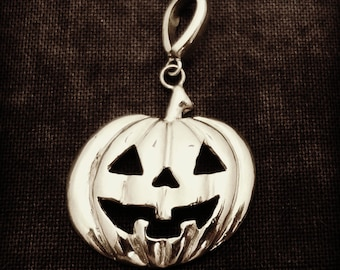 Jack-O-Lantern Pumpkin Pendant - Handmade in the Pacific Northwest