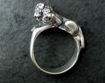 Lion Ring - Handmade in the Pacific Northwest