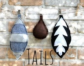 Set of 3 tails - Adult - Child - peter pan inspired and made to order