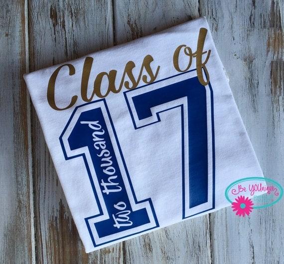 Items Similar To Senior T Shirt Class Of 2017 T Shirt