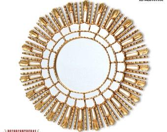 wood gold wall mirror cuzco style 236 inch u0027sun