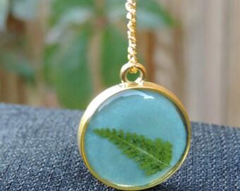 Golden Fern Necklace