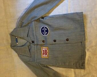 Vintage Toddler Little Leggs Santa Fe Rock Island Engineer Jacket