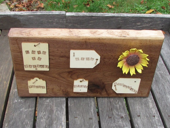 Sunflower Wedding Sign, Love is Wedding Sign, Love is, Rustic Wedding Sign, Love is Patient, Love is Kind, Love is Rustic Sign, Walnut Wood