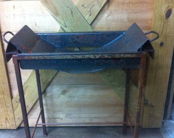 vintage industrial table metal nightstand rustic night table rustic end table industrial