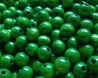 Green Wood Beads 8MM