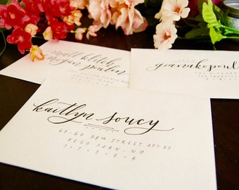 Hand Lettered Address Envelopes