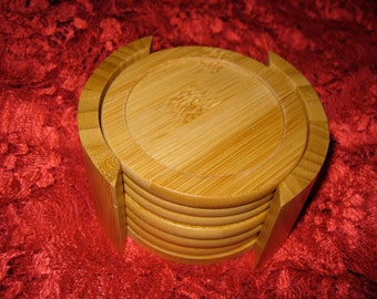 50% Off Light Wood Coaster Set