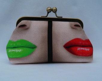 Clutch Purse, Lipstick Design Clutch, Make-Up Clutch, Make-Up Bag, Clutch Bag, Ladies Gift