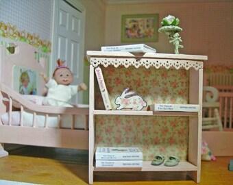 Shabby Nursery Bookself Miniature for Dollhouse 1:12 scale