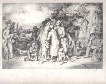 "Vintage print   "" The Terrace""   by Charles Locke"
