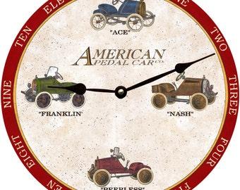 American Pedal Car Clock