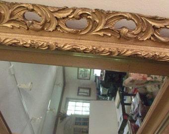 Gold Leaf Mirror with Gesso Frame