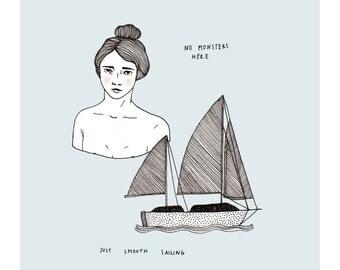 Just Smooth Sailing  // Fine Art Print