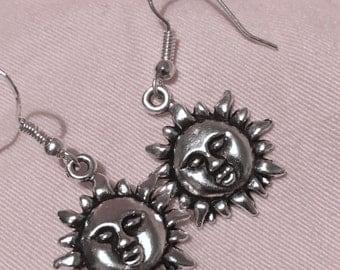 Sun Face Earrings