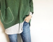 Custom - Woollen Windcheater in green wool short style