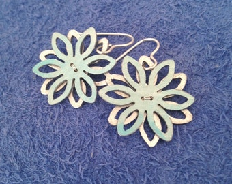 Stacked cut out flower earrings