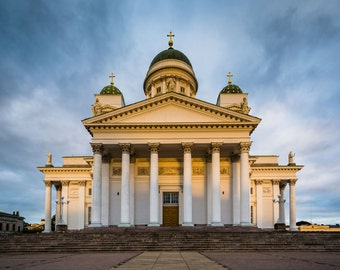The Helsinki Cathedral, in Helsinki, Finland. | Photo Print, Stretched Canvas, or Metal Print.