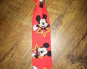 Mickey Boys Tie/Mickey Mouse/Disney/Perfect for Disney Cruise or Disney World/Great for birthdays and pictures/Boy/Toddler/Child