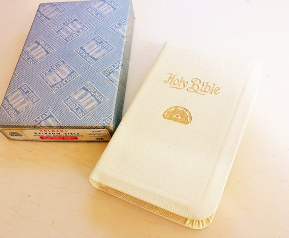 Compact Holman Rainbow Bible in original box. Masonic youth. King James Bible. Order of Rainbow.