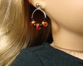 "Halloween beaded hoop earring dangles  for 18"" American Girl Dolls"