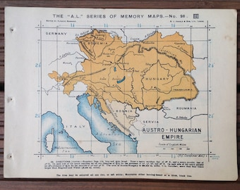 Map of the Austro Hungarian Empire