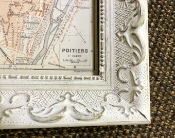 1892 Poitiers Map [3.9 x 5.8 in.] Western France Map