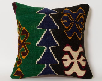 Kilim Pillow Cover 16x16 Pillows Vintage Home Decor Handwoven Anatolian Kilim Cushion Cover Decorative Pillows For Couch Embroidered Pillow