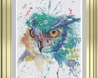 The Owl cross stitch