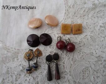 Vintage earrings x  6 clip ons