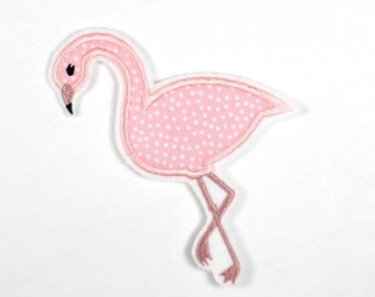 iron-on applique iron-on patches applique Patch Flamingo Flana 12 x 8cm / size inches 4.72 x 3.15