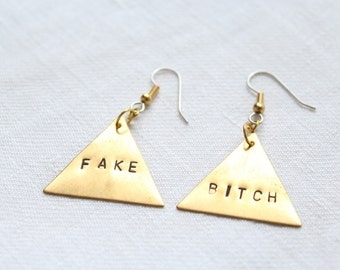 "Dangling earrings. ""Bad Mood"" - triangle"