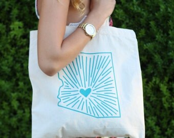 Reusable Market Tote - Arizona Pride Tote - Arizona Tote - Market Totes - Reusable Travel Totes - Tote Bag - Double Sided Tote Bag