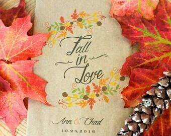 Fall in Love - Favor Bags - Wedding favors - Treat Bags