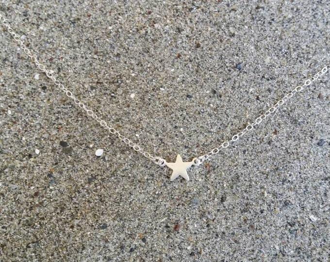 Tiny Sterling Silver Star Necklace, Star, Tiny Star, Sterling Silver, Necklace