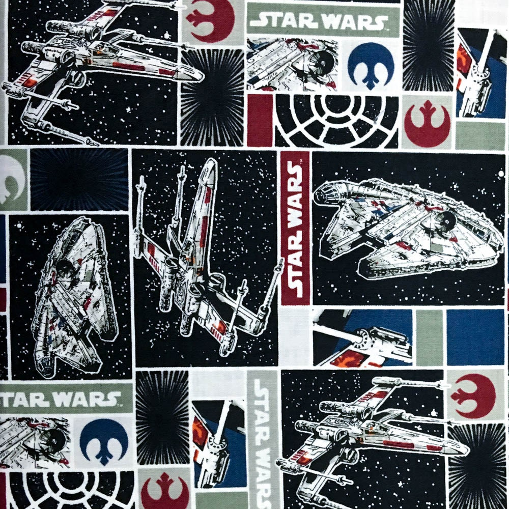 Star wars rebel ships red 100 percent cotton fabric by the for Star wars fabric