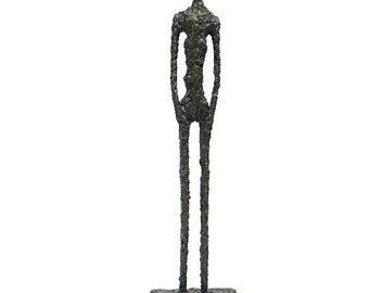Large Bronzesculpture  Figure LARGE MAN Hommage Giacometti 51 cm Height