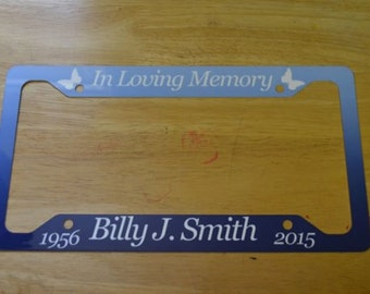 License Frame, Memorial Frame, In Memory Gift, Memorial License Frame, Custom License  Frame, Sympathy gifts, Bereavement Gifts