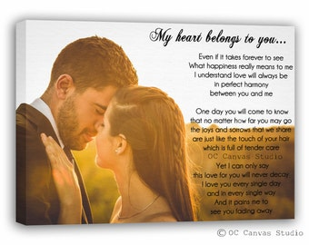 First Dance Song Lyrics, Song Lyrics, Personalized Wedding 1st Anniversary Gift, Wife and Husband One Year Anniversary, Anniversary Gift