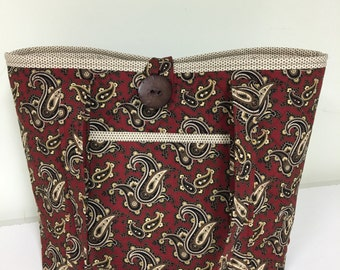 Handmade & Quilted Tote, Carry On Bag, Work Tote, Purse, Diaper Bag