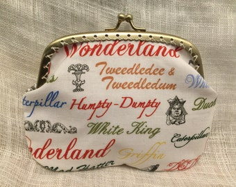 Large Alice in Wonderland Coin Purse