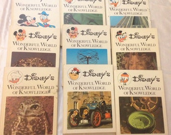 Vintage 1973 Disney Book Collection Wonderful World of Knowledge volume 1 to 20