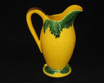 Vintage Lemon ceramic pitcher