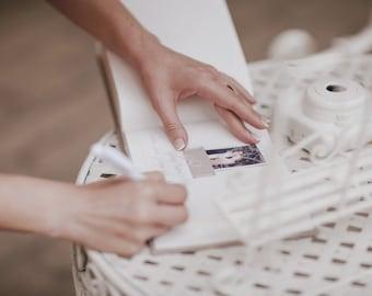 Wedding Album Polaroid Guest Book Brown Color