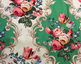 Grand Main Jennifer Paganelli Sis Boom Scroll Green Floral BTY