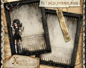 Miss Addams 3 - 5 x 7 inch printable journal cards