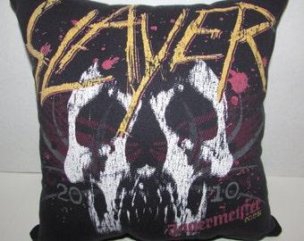 "5 dollars off! coupon code ""SUMMER17"" - SLAYER/Jager tour shirt pillow/handmade"