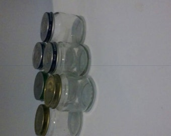 Glass baby food jars