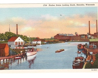 Kenosha Wisconsin Vintage Postcard (unused)