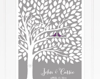 Guest Book Poster Wedding Guestbook Tree Guest Book Alternative for 175 Guests Spring Wedding Summer Wedding Guestbook Tree Poster
